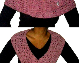 Crescent Scarf - PDF Crochet Pattern - Instant Download