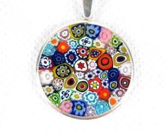 Millefiori Murrina Murano Glass Pendant