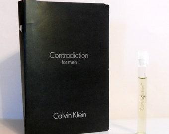 Vintage 1990s Contradiction for Men by Calvin Klein Eau de Toilette Sample COLOGNE