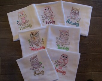 Owls (DOW)  (Set of 7) - Made to Order
