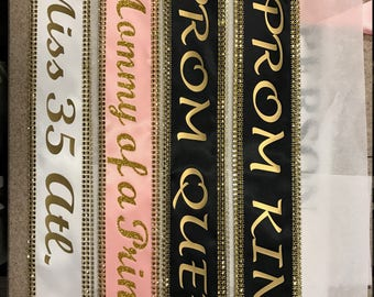 Miss Argentina,  Custom Sash,Wedding Sash Prom King, Prom Queen,  Beauty Queen,Miss USA Any Color any wording