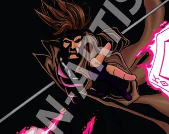 Hasn't been your night, eh, chère? (Marvel X-men Gambit digital art print)