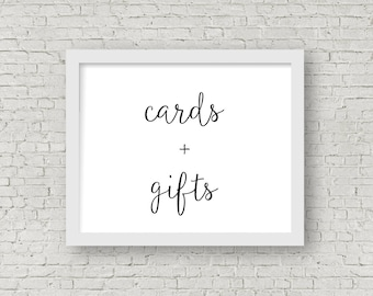 printable cards & gifts sign // instant download // 8x10 frame // deschutes collection