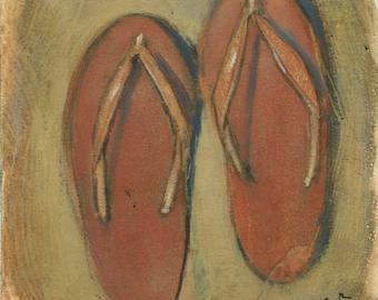 Flip-Flops [original painting]