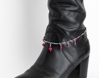 Bracelet for Boots Fuschia Agate