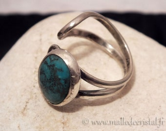 Turquoise Ajustable Ring - Silver Sterling 925 Homemade