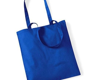 Blue cotton bag french to create your tote bag: 37 x 40 cm. Customize it!