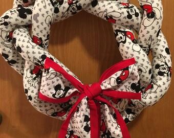 Mickey Mouse Wreath - Disney Wreath - Handmade - Home Decor - Door Hanger - Mickey Wreath