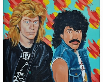 """12"""" x 12"""" - Hall and Oates inspired print signed by the artist"""