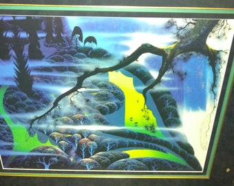 EYVIND EARLE Green Pastures Lithograph Earth Day