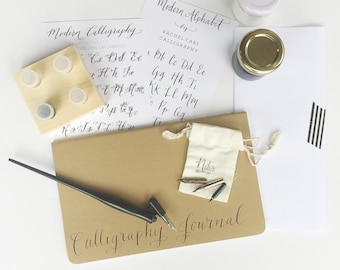Calligraphy Starter Kit with Gift Box + ON SALE + Free Name Personalization / Valentine's Day Gift