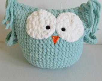 Seafoam Green plush owl / pillow