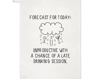 Forecast For Today Tea Towel Dish Cloth