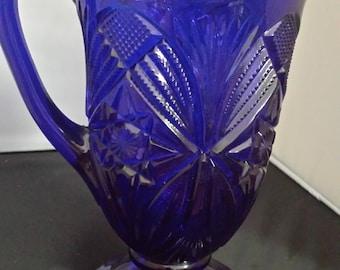 Moser Cobalt blue pitcher