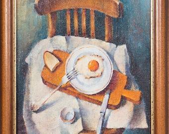 "Oil painting: ""Breakfast"" 2007. 60x40 (cm)"