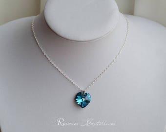 Ocean - Titanic - romantic Valentine jewelry Heart Necklace