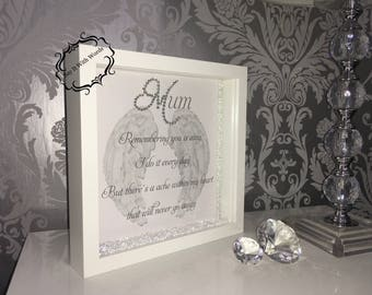Remembering you is easy crystal frame