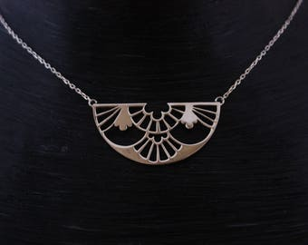 """Necklace """"-inspired Art Deco"""" 925 sterling silver hand made"""