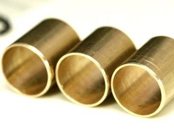 Traw brass tube 12 Pcs 11 x 12 mm (hole 10 mm) raw brass  industrial brass charms, pendant, findings spacer bead bab10 1326R