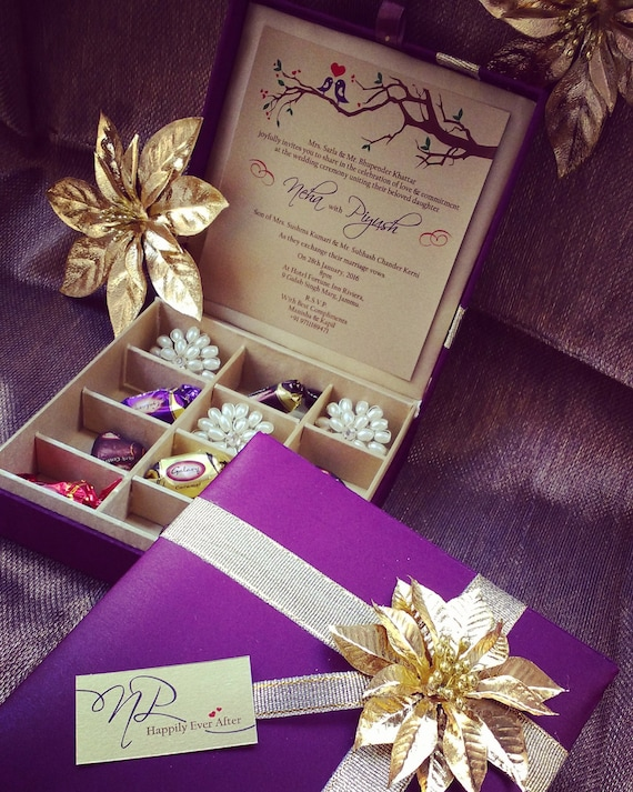 Chocolate Box Gift Box Wedding Invitation Box