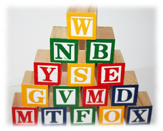 Wooden alphabet blocks lettered blocks baby alphabet blocks for Greek wooden block letters