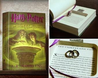 "Hollow Book Safe Ring Bearer - Harry Potter and the Half-Blood Prince ""Unbreakable Vow"" - Secret Book Safe"