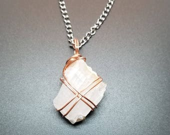 Wire Wrapped Calcite Necklace