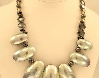 Nautilus, Malachite Necklace