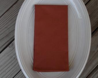 Sienna fabric napkins, cotton napkins, handmade napkins, set of 4