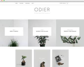 Odier - Blog and Shop WordPress Theme - Responsive WordPress Blog Theme - WordPress Theme - Elegant, Simple, Clean WordPress Theme