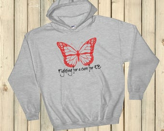 Fighting for a Cure for EB Epidermolysis Bullosa Hoodie Sweatshirt - Choose Color