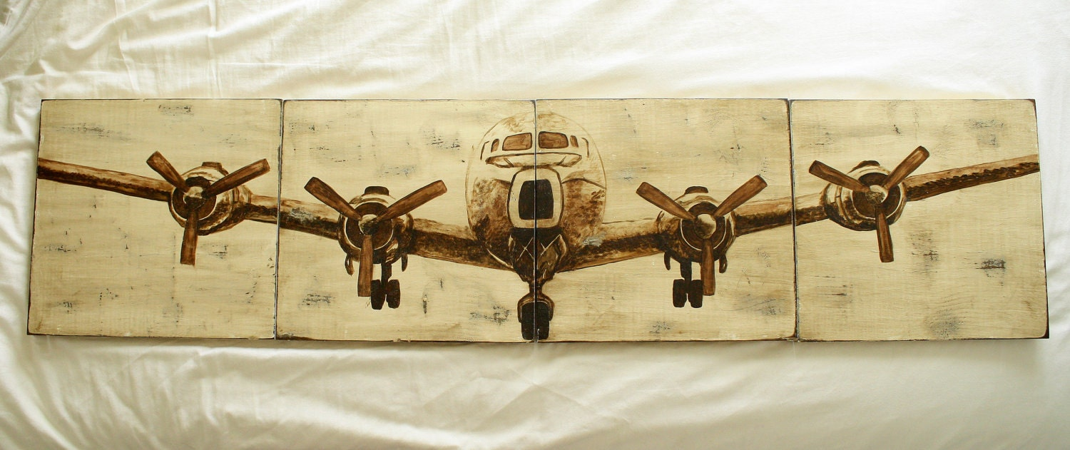 Airplane Painting Wall Art