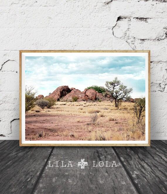 Desert Landscape, Wall Art Print, Australian Outback, Colour Photography, Country Australia, Printable Digital Download, Australiana