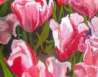 Morning Tulips Fine Art Oil Painting