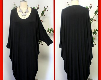 ComfyPlus Oversize Lagenlook  Dress,New Designer Plus Size Dress. Fits from Large to 4X.