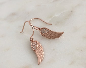 Wing Earrings with Cz's