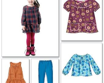 OUT OF PRINT McCall's Pattern M6388 Children's/Girls' Tops, Dresses and Leggings