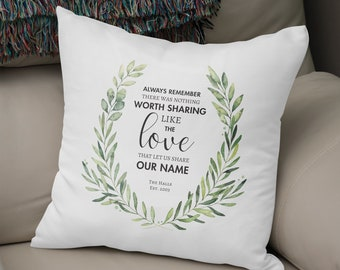 Avett Brothers Decorative Pillow - Lyrics Pillow - Personalized! Great wedding, shower or engagement or anniversary gift!