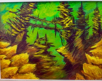Acrylic Painting, Surreal Landscape Series