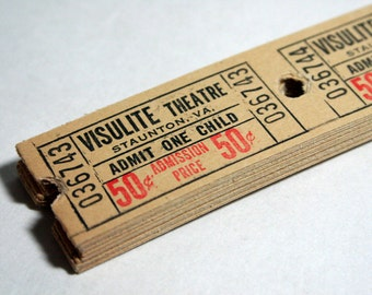 25 Yellow Vintage Theatre Tickets