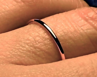 Rose Gold  Ring, Rose Gold Band, Solid 14k rose gold ,Rose gold Wedding Band, 1.5mm thin band, womens wedding band, womens wedding ring