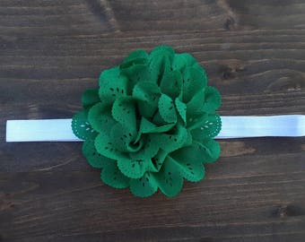 Green Flower Headband- 18""