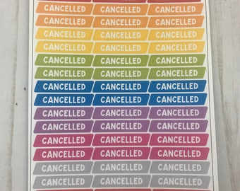 Rainbow cancelled headers
