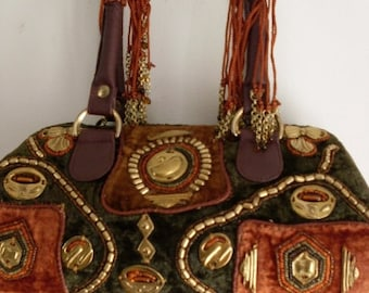 Funky BoHo Boston Purse Bag  Beaconhillcollect Great Find