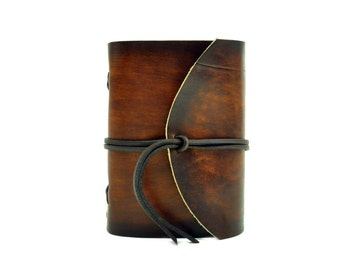 Leather book  - soft OX RAW - Coco - A6 - 400 pages - diary of Vickys World®