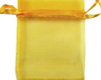Lot of 10 large 6 x 9 inch Gold Organza Sheer Color