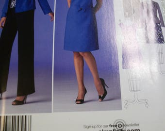 Simplicity 2455 Misses K5 8-10-12-14-16 and U5 16-18-20-22-24 dress or top, pants and jacket.  threads magazine collection.