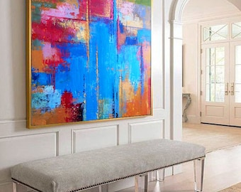 Abstract Painting, Colorful Painting Art, Contemporary Art, Palette knife, Art painting, Abstract print, Colorful Collectible Painting, Art