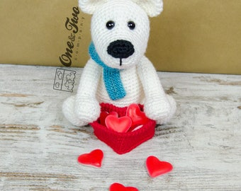 Parker the Polar Bear Amigurumi - PDF Crochet Pattern - Instant Download - Amigurumi crochet Cuddy Stuff Plush
