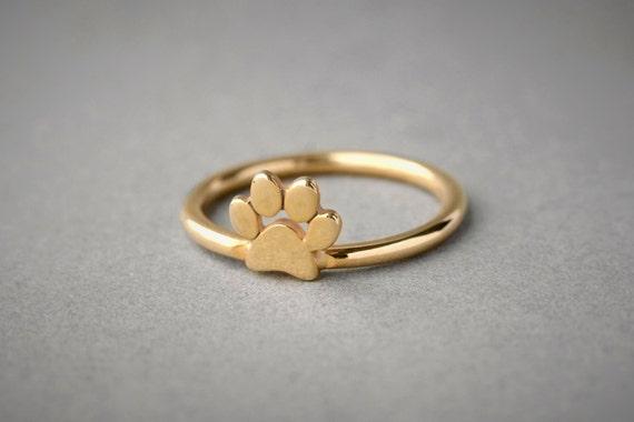 Paw Ring Dog Paw Ring Cat Paw Ring Paw Print Ring Paw